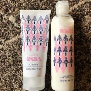 Avon Beautiful Splendeur Body Scrub & Body Lotion